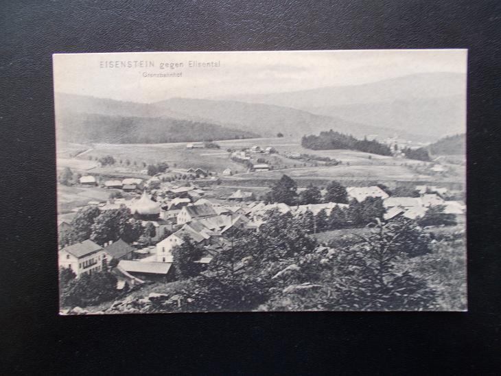 Šumava Klatovy Železná Ruda Eisenstein hranice nádraží Bavorsko - Pohlednice