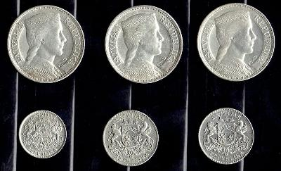 Lotyšsko, Sestava 1 Lats 1924, 2 Lat 25, 26 a 5 Lat 29, 31 a 1932