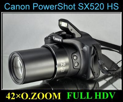 💥 Canon PowerShot SX520 HS - 16 MP*42x Op.Zoom*HDV* + brašna...✨TOP✨