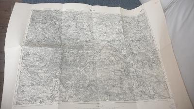 Vojenska mapa 1928 Třeboň-Veseli n. Lužnicí-Hluboka n.V. zanikle obce!