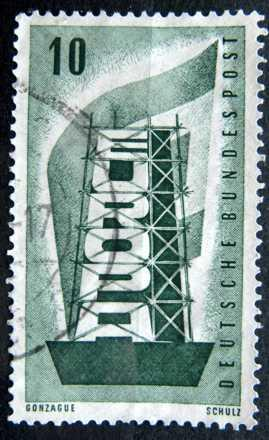 BUNDESPOST: MiNr.241 Coal and Steel Community 10pf, Europa Issue 1956