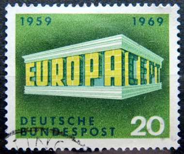 BUNDESPOST: MiNr.583 EUROPA and CEPT 20pf,  Europa Issue 1969