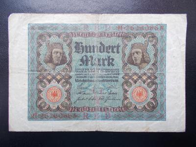 Bankovka 100 Marek Německo 1920  Hundert Mark Reichsbank