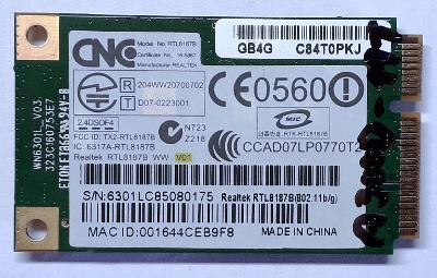 Wifi karta Toshiba Satellite A300D-11T - Záruka - Doklad