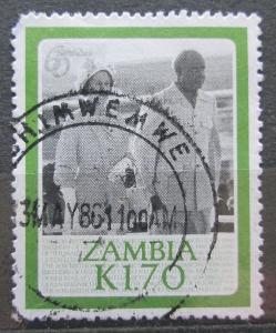 Zambie 1986 Královna Alžběta II. Mi# 355 1006