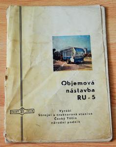 STS ČESKÝ TĚŠÍN - OBJEMOVÁ NÁSTAVBA RU - 5 (1972) - NÁVOD / KATALOG