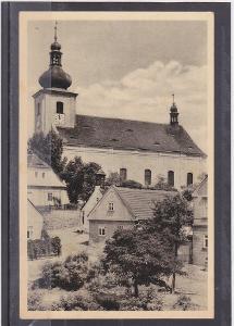 Louny Podbořany kostel 1950