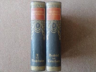 Meyers Lexikon 1,2, naučná kniha, encyklopedie v německém jazyce, 1925