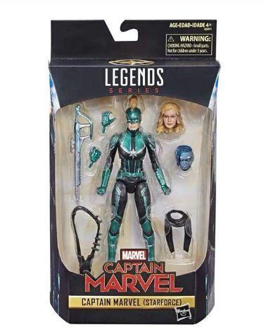 Marvel Legends: Captain Marvel - figurka 15 cm + doplňky Avengers