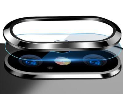 Apple Iphone XS, hybrid tvrzené sklo objektivu rám, ochrana kameru no4