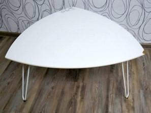 Konferenční stolek MISZEK, MDF/ kov (19029B)