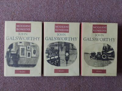 Moderní komedie John Galsworthy 3 svazky  rok 1957