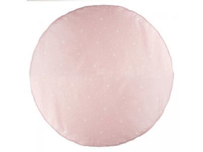 Rohož v růžové barvě s bílými hvězdami