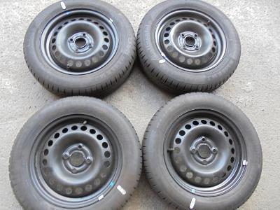 165 65r14 letní Conti+14 plech+snímače tlaku,Opel Karl, 4kusy NOVÉ