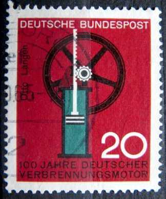 BUNDESPOST: MiNr.442 German Gas Engine 20pf 1964