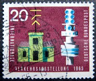 BUNDESPOST: MiNr.471 Telegraph and Telecommunication Tower 20pf 1965