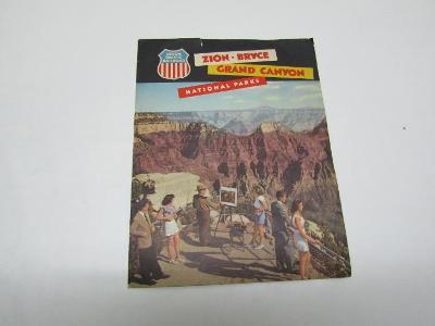STARÝ REKLAMNÍ LETÁK GRAND CANYON USA