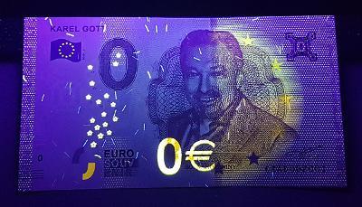 EUROBANKOVKA KAREL GOTT 2019 ● 0 EURO ● UNC (ČR)