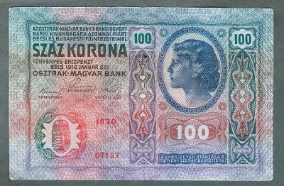 100 korun 1912 BEZ PŘETISKU pěkný stav 1-