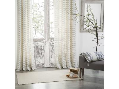 Závěs skroužky, krásná okenní ozdoba