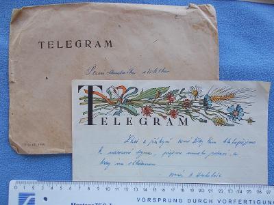 Zdobený blanket telegram přání kytice květin chrpa kopretina klas