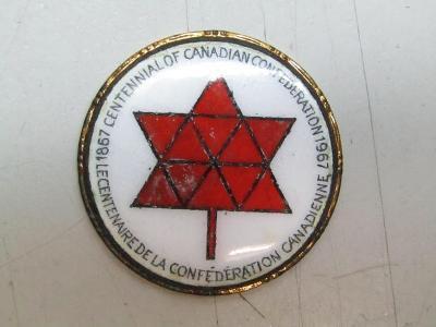 STARÝ SMALT ODZNAK CENTENNIAL OF CANADIAN CONFEDERATION 1967 / ČSSR
