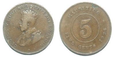 Mauritius 5 C 1924