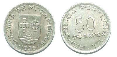 Mozambik 50 C 1936