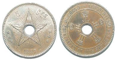 Belgické Kongo 5 C 1887