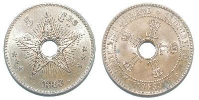 Belgické Kongo 5 C 1888
