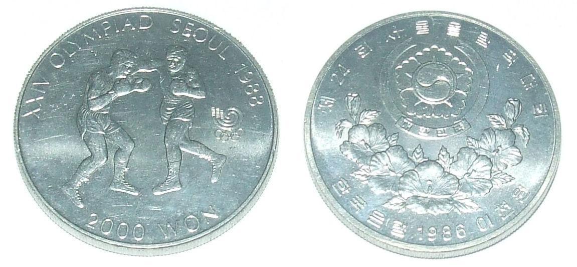Jižní Korea 2000 W 1986 - Numismatika