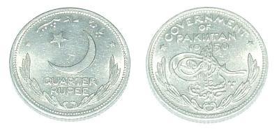 Pakistán 1/4 R 1950