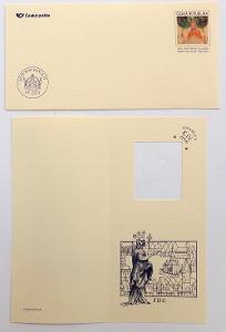 POF. CSO 12 - SLUŽEBNÍ OBÁLKA KAREL IV. + NOVOROČENKA (T8157)