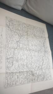 Podrobna mapa kralovství Českého Německý Brod-Polná-Jihlava- 1914