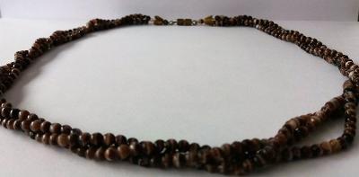 cca 50 cm dlouhý spletený náhrdelník bižuterie