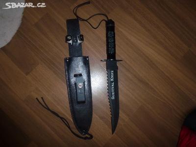 Taktický nůž -velký ,pevná ocel
