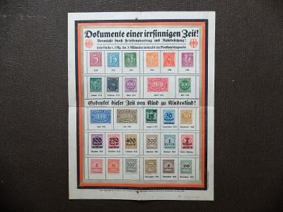 NĚMECKO REICH DOKUMENTE EINER IRRSINNIGEN ZEIT 1923 INFLACE