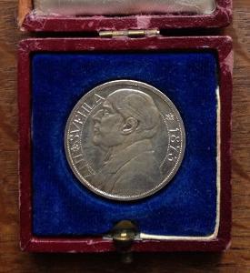 Šejnost - Ag medaile A. Švehla. Vzácná varianta s dubovým listem RRR