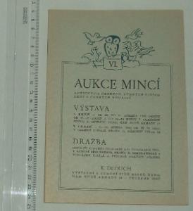 Aukce mincí a medailí - 1948