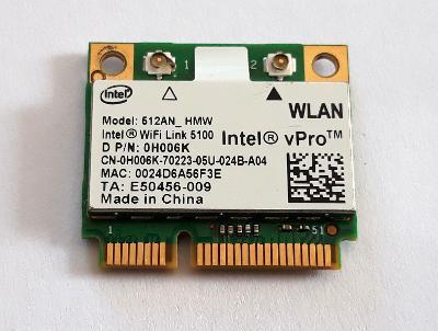 Wifi modul Intel 0H006K / 512AN_HMW z Dell Latitude E6400