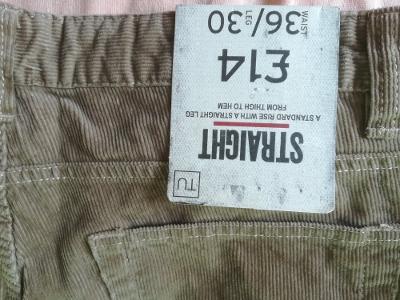 dámské manšestrove kalhoty pas 95 cm,boky 115 cm,délka 102 cm