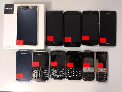 BlackBerry, Nokia, Sony, HTC, Samsung - poškozené