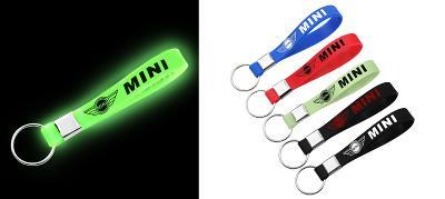 BMW Mini Cooper Logo - svítící silikonový přívěšek na klíče 5 barev