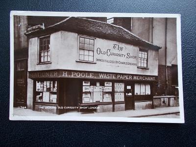Anglie Británie Londýn London Dickens Old Shop Starý obchod  1927