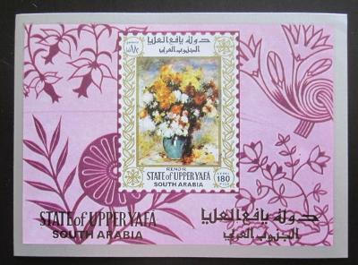 Aden Upper Yafa 1967 Umění, Renoir Mi# Block 16 1650