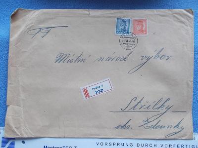 Dopis doporučeně R nálepka Praha