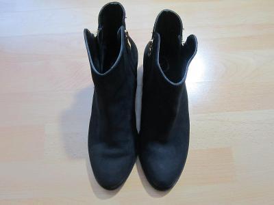 Humanic kožené boty se zlatými zipy. Vel. 39