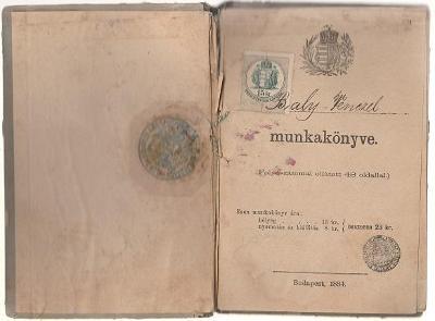 Maďarská pracovní knížka 1884