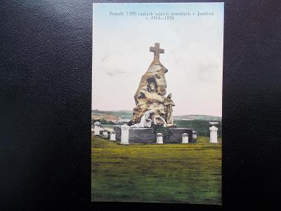 Náchod Josefov kasárna vězení 1.svět. válka Rusko pomník zajatců smrt
