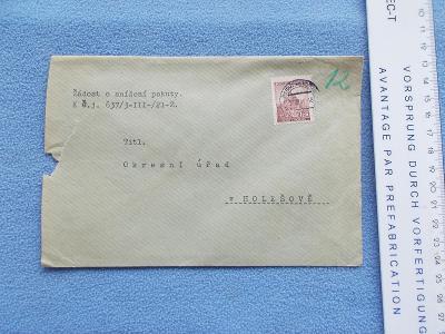 Dopis Protektorát Okresní úřad Holešov Žádost o snížení pokuty